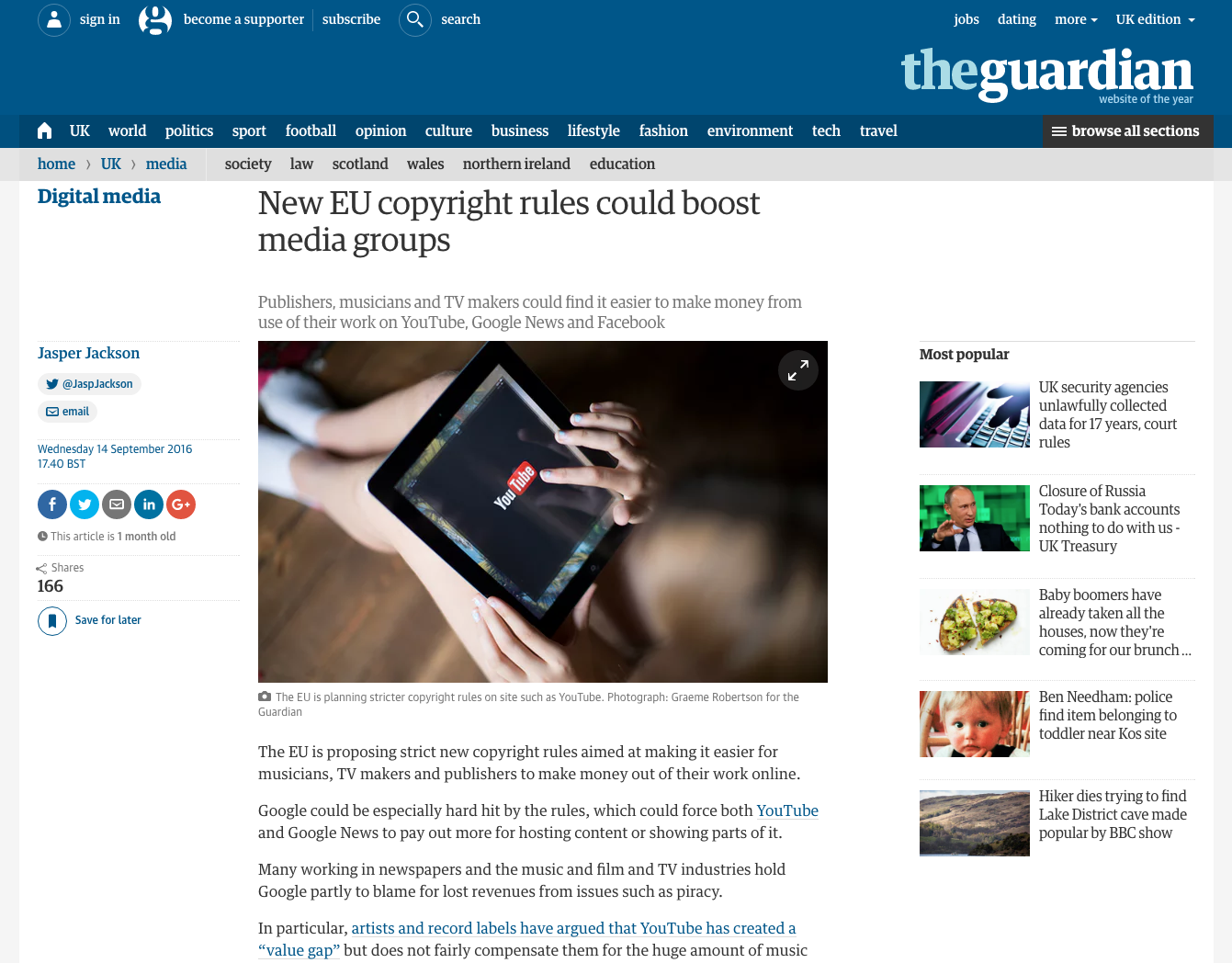 Fairness Rocks News Guardian: New EU copyright rules could boost media groups