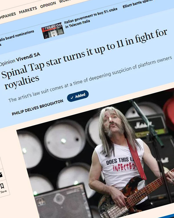 Fairness Rocks News Spinal Tap star turns it up to 11 in fight for royalties