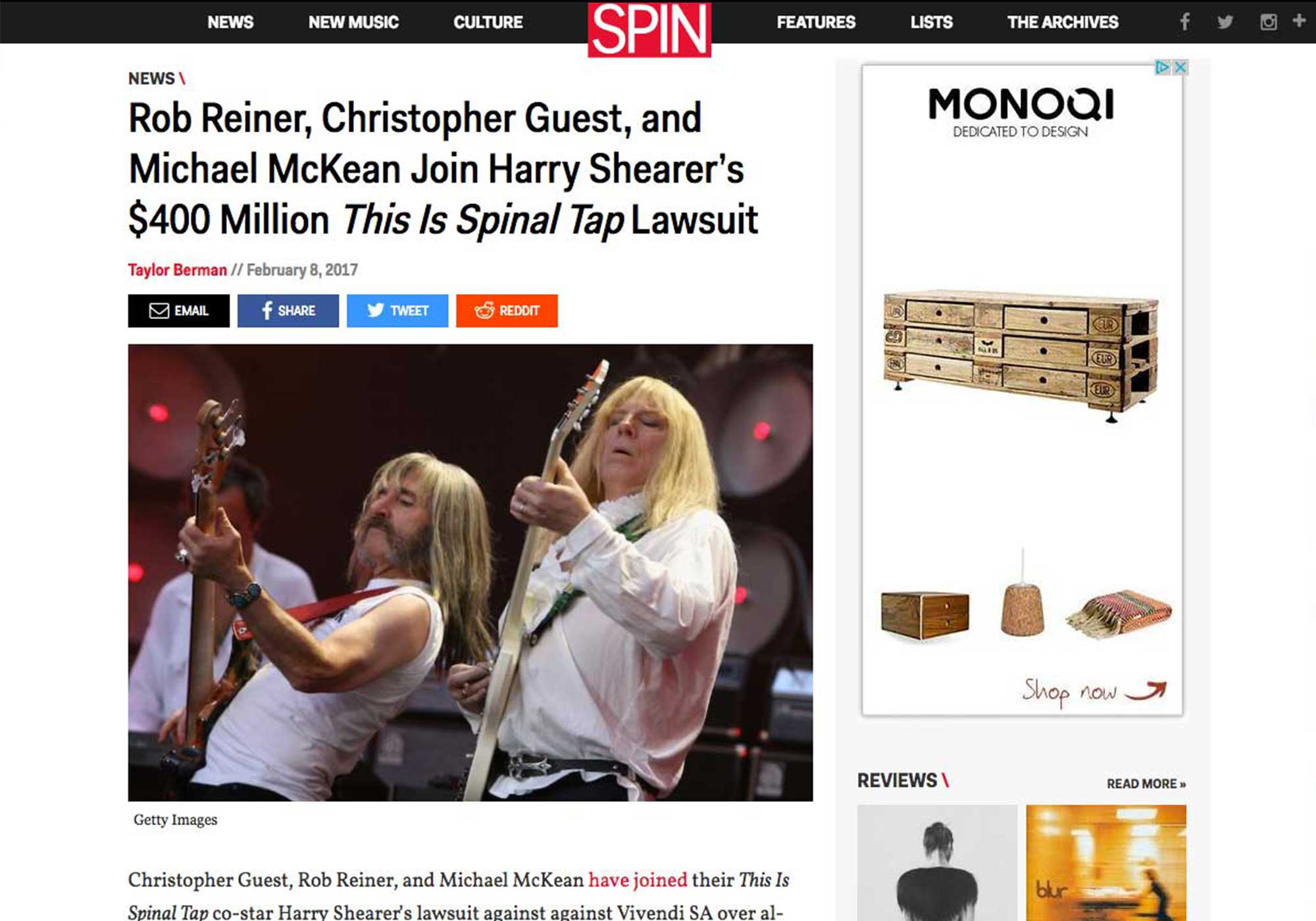 Fairness Rocks News Rob Reiner, Christopher Guest, and Michael McKean Join Harry Shearer's $400 Million This Is Spinal Tap Lawsuit