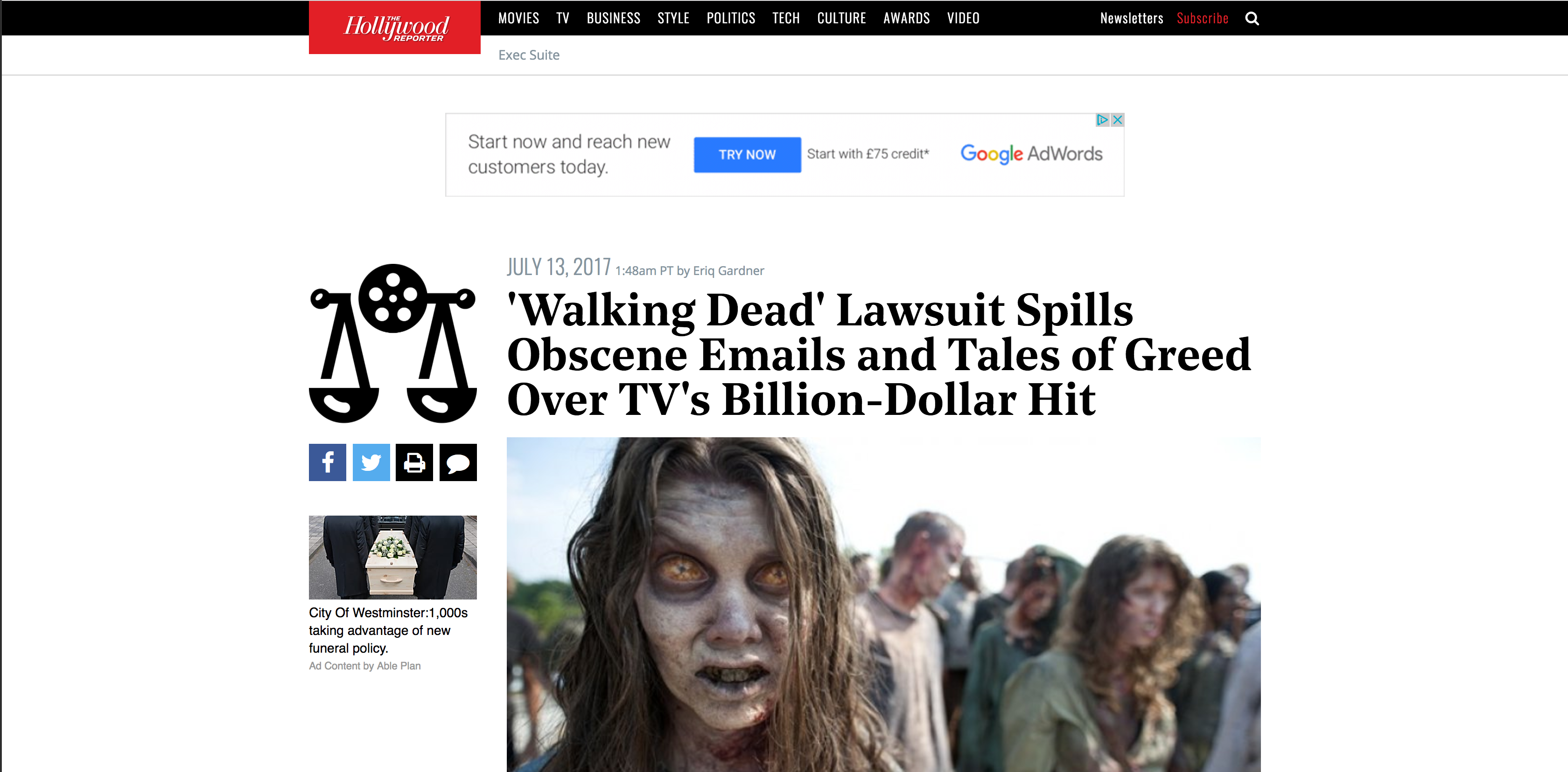 Fairness Rocks News 'Walking Dead' Lawsuit Spills Obscene Emails and Tales of Greed Over TV's Billion-Dollar Hit