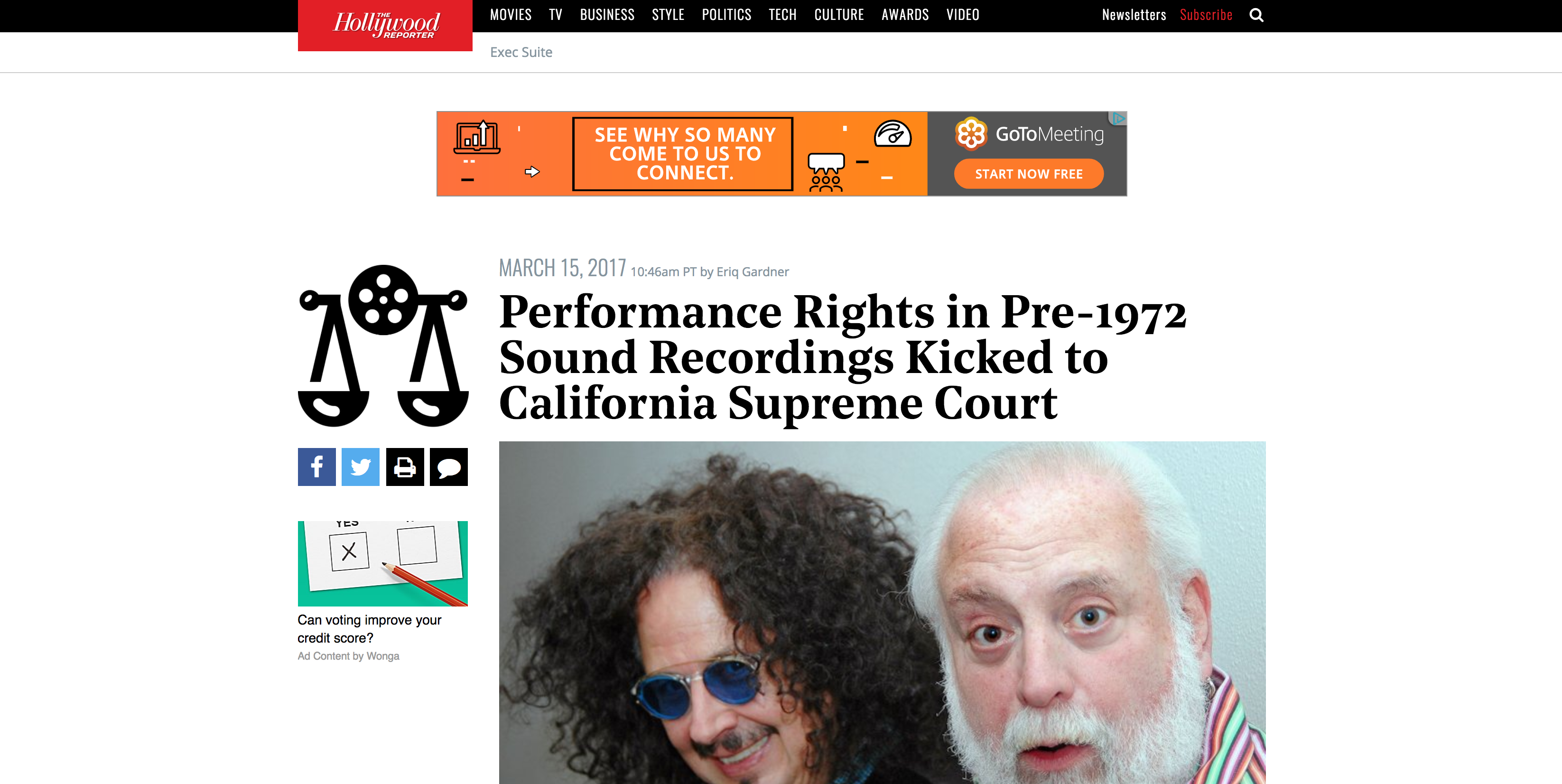 Fairness Rocks News Performance Rights in Pre-1972 Sound Recordings Kicked to California Supreme Court