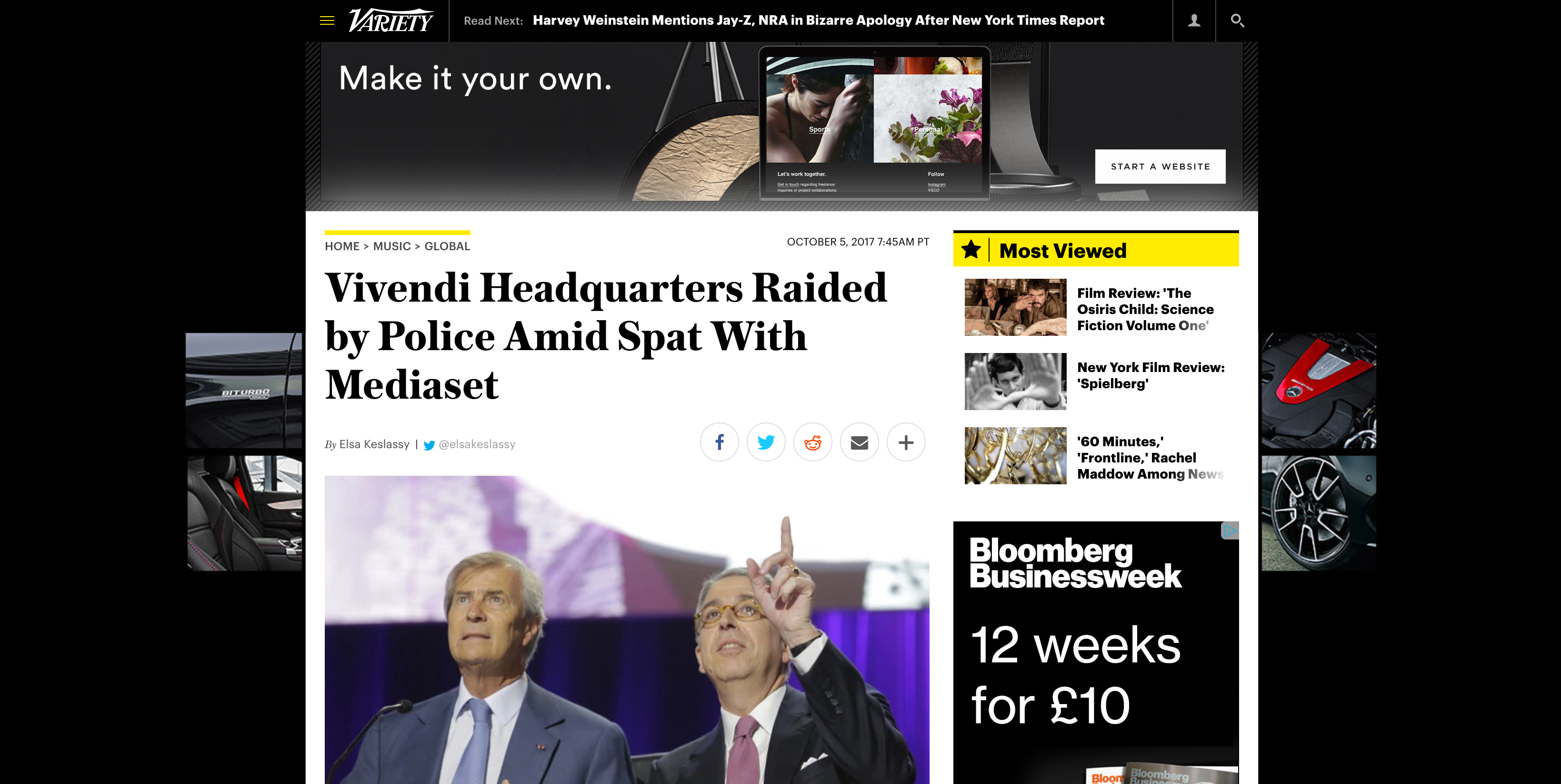 Fairness Rocks News Vivendi Headquarters Raided by Police Amid Spat With Mediaset