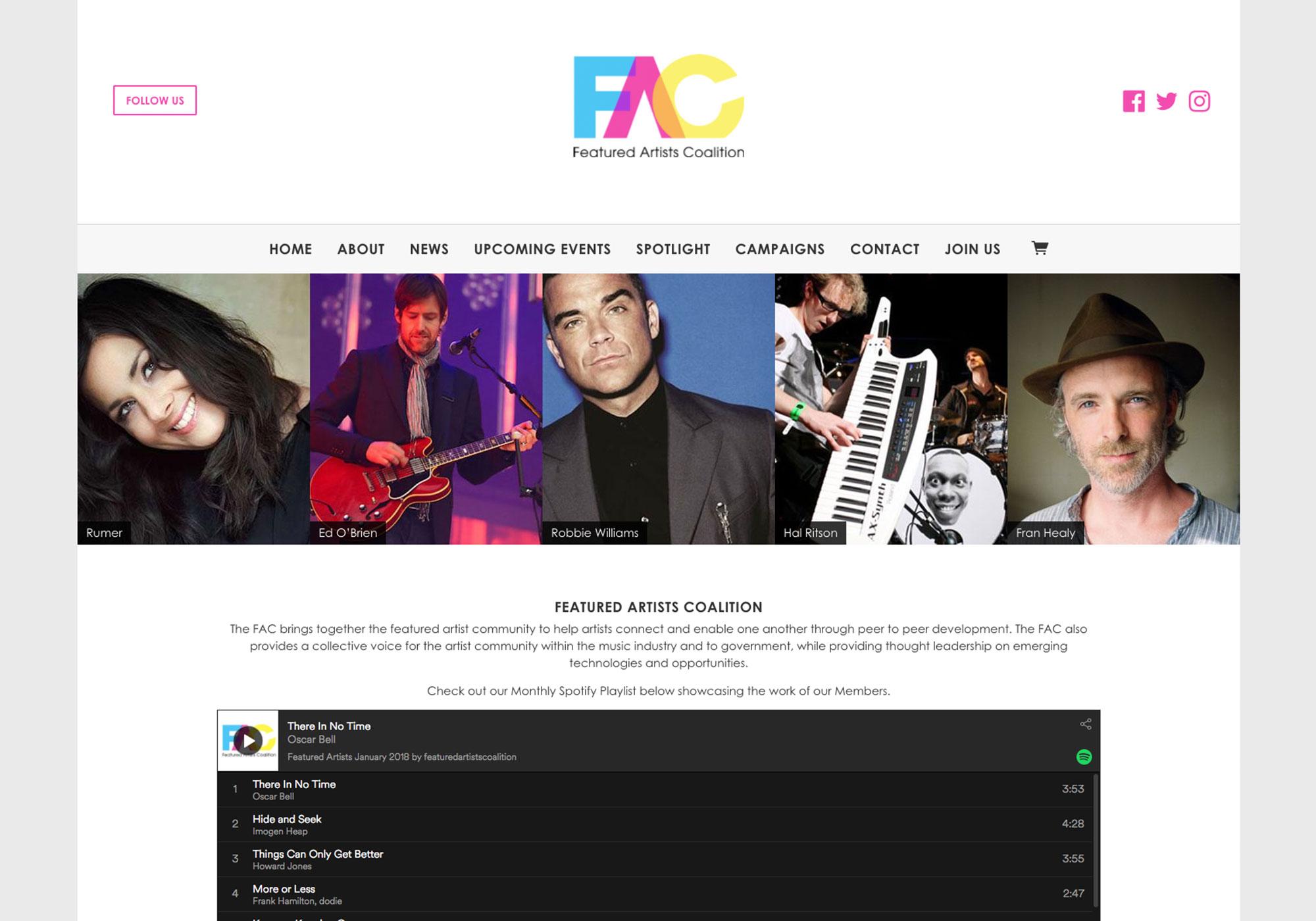 Fairness Rocks News FEATURED ARTISTS COALITION