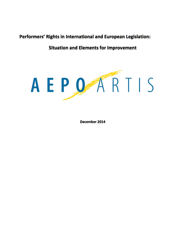 Fairness Rocks News Performers' Rights in International and European Legislation: Situation and Elements for Improvement