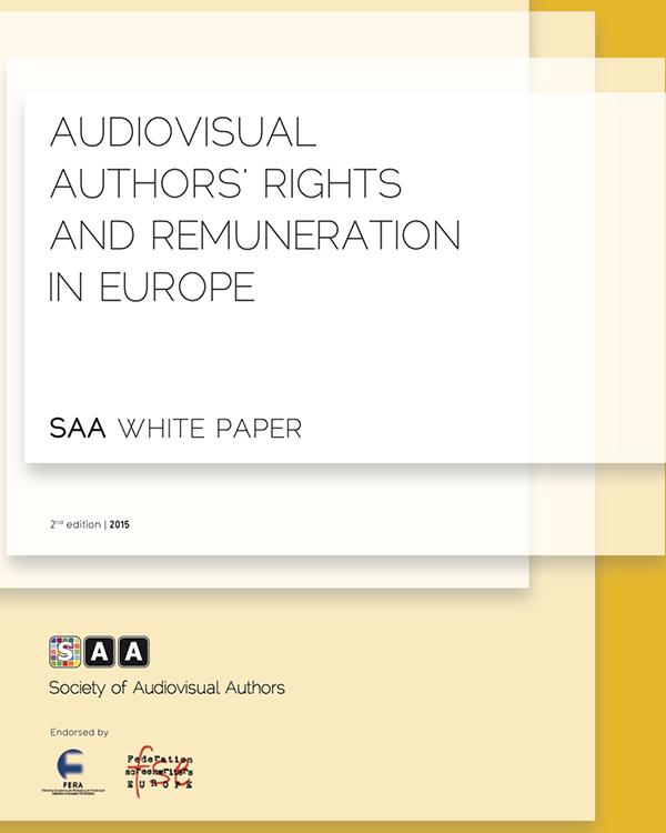 Fairness Rocks News SAA 2nd Edition White paper on AV Authors Remuneration