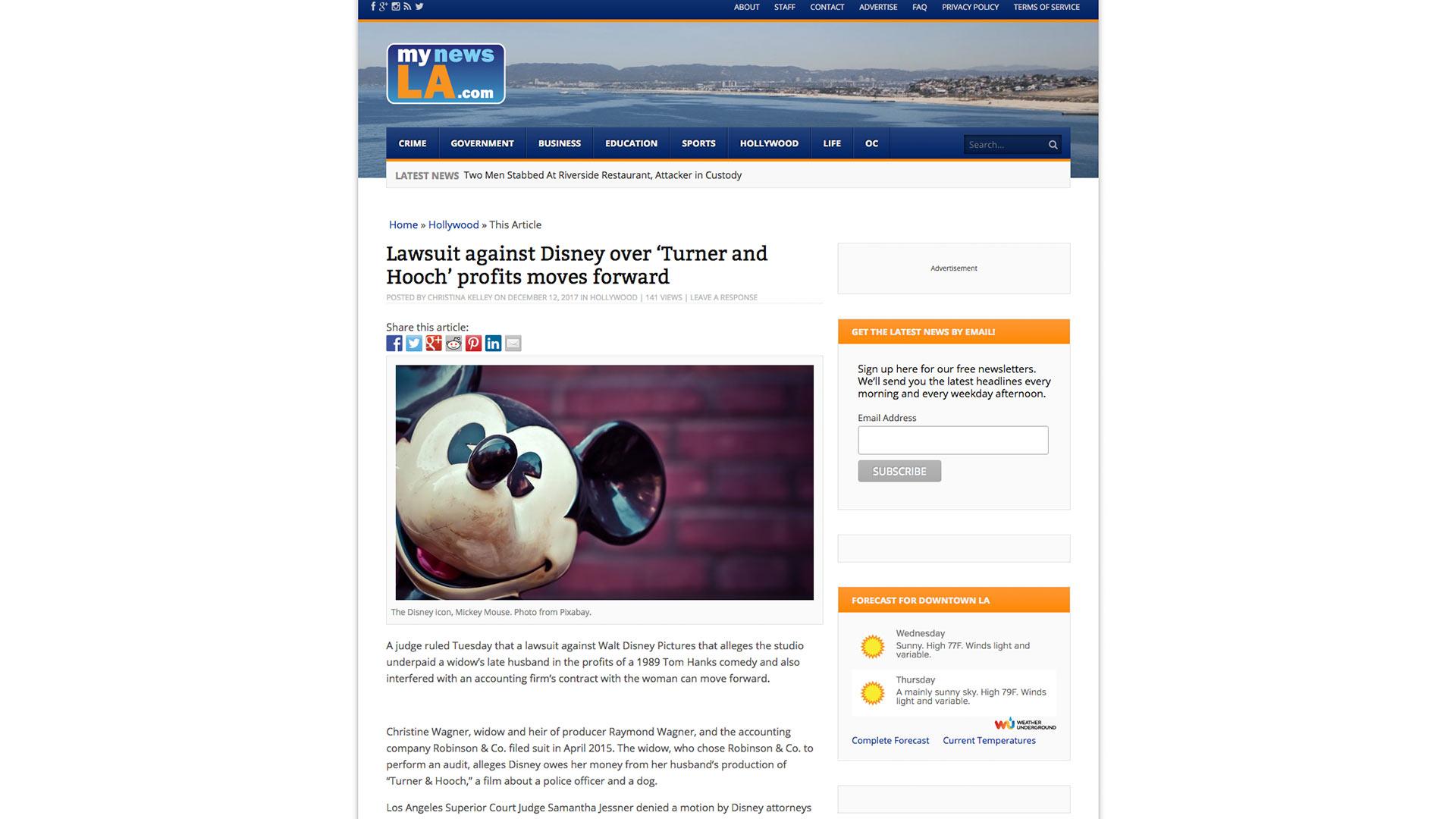 Fairness Rocks News Lawsuit against Disney over 'Turner and Hooch' profits moves forward