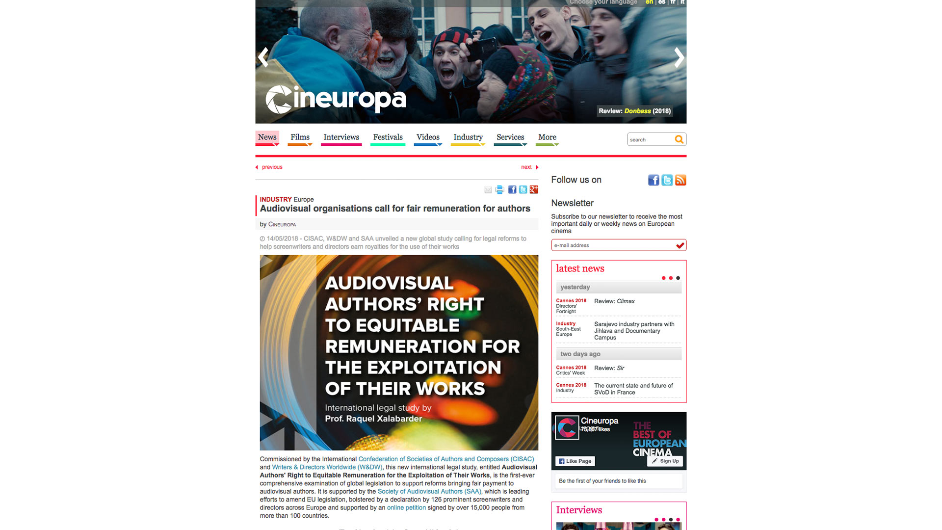 Fairness Rocks News Audiovisual organisations call for fair remuneration for authors