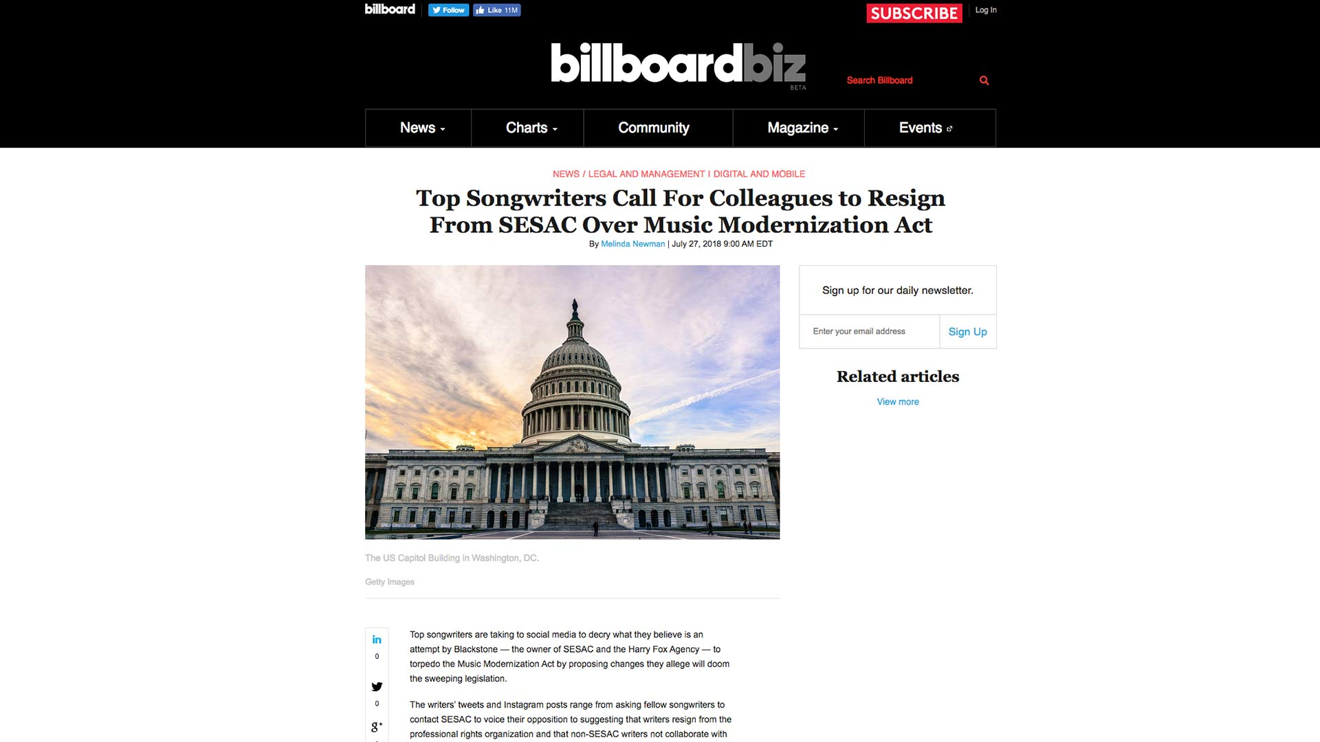 Fairness Rocks News Top Songwriters Call For Colleagues to Resign From SESAC Over Music Modernization Act