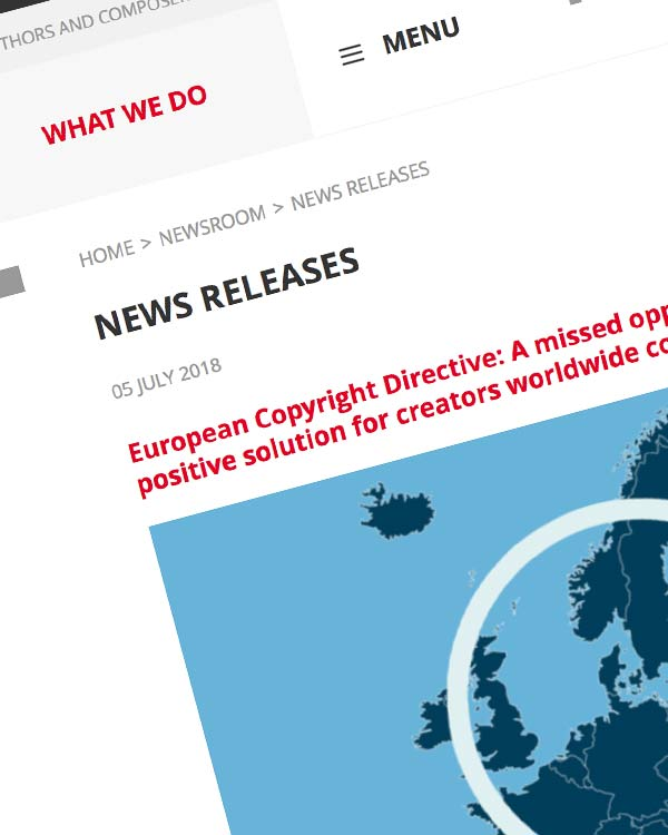 Fairness Rocks News European Copyright Directive: A missed opportunity but work for a positive solution for creators worldwide continues
