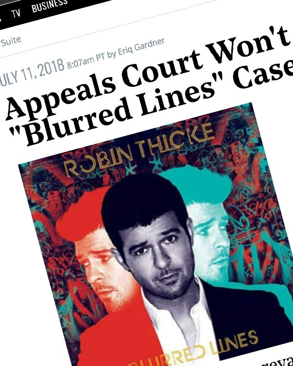 "Fairness Rocks News Appeals Court Won't Rehear ""Blurred Lines"" Case"