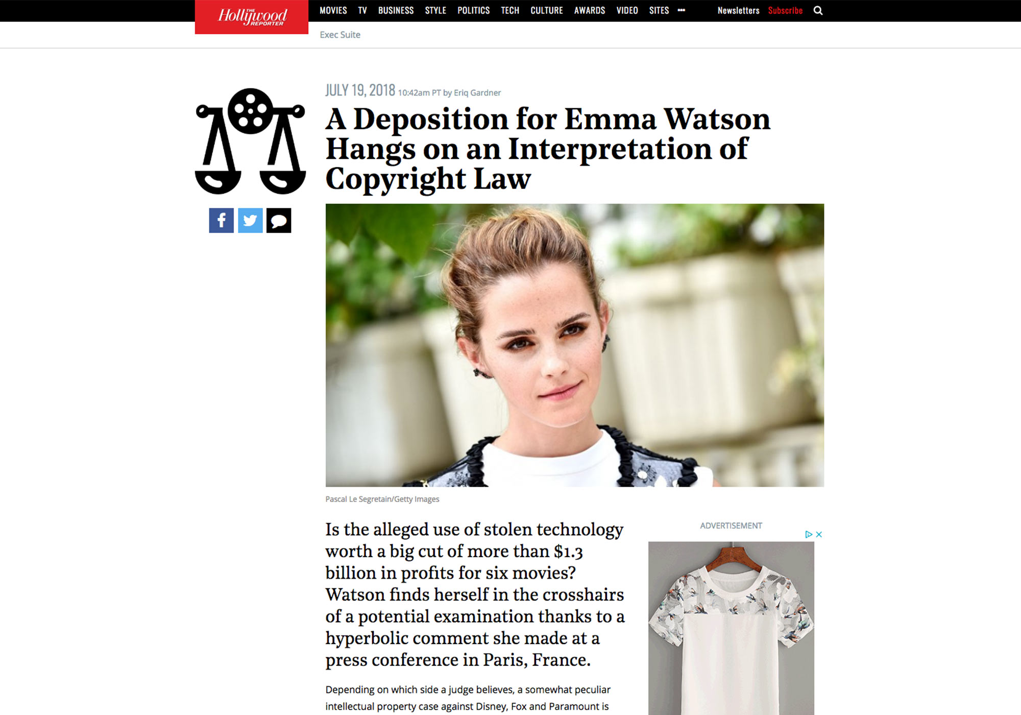 Fairness Rocks News A Deposition for Emma Watson Hangs on an Interpretation of Copyright Law