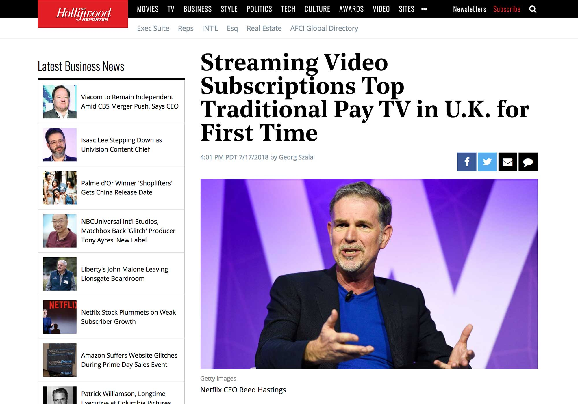 Fairness Rocks News Streaming Video Subscriptions Top Traditional Pay TV in U.K. for First Time