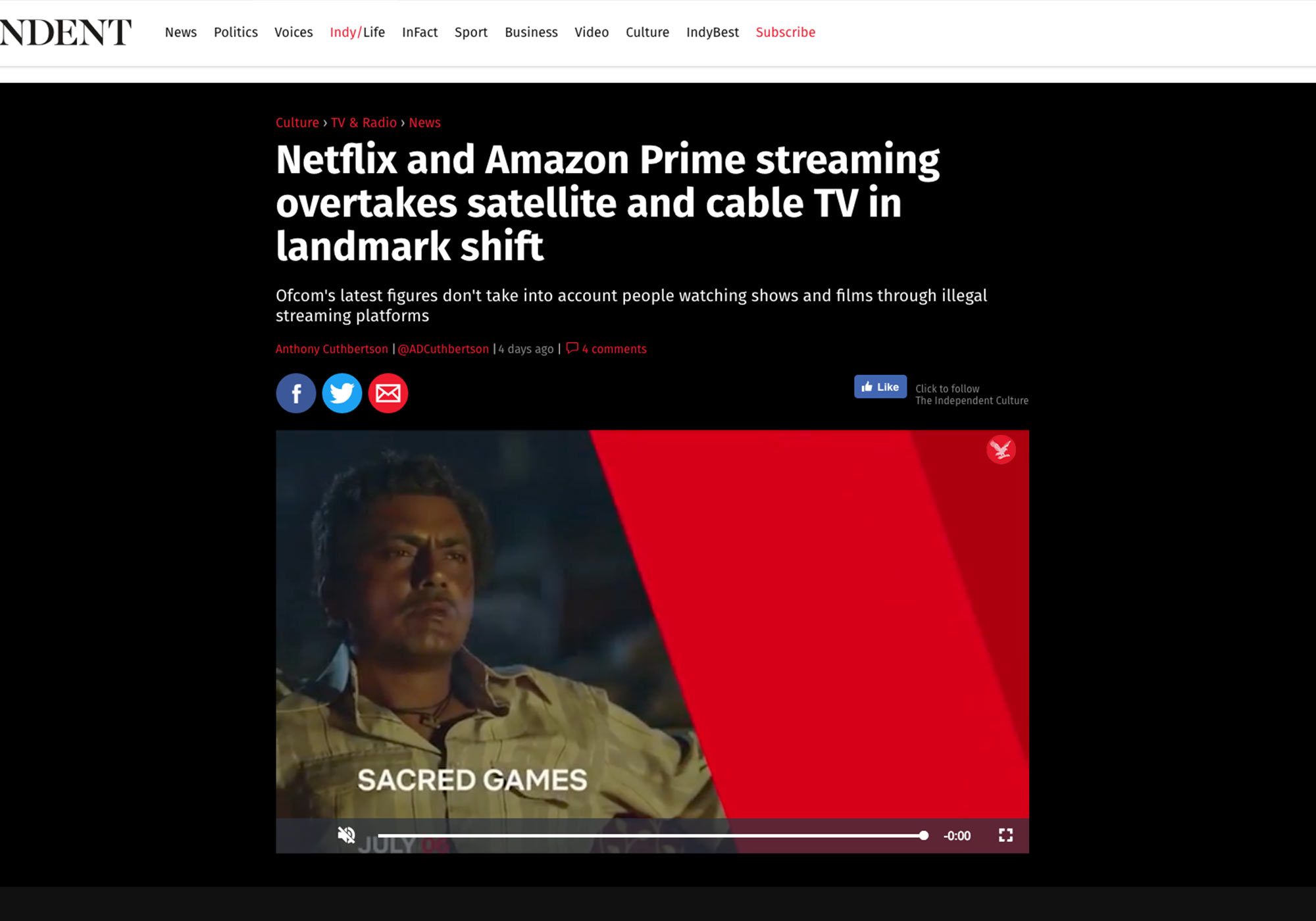Fairness Rocks News Netflix and Amazon Prime streaming overtakes satellite and cable TV in landmark shift