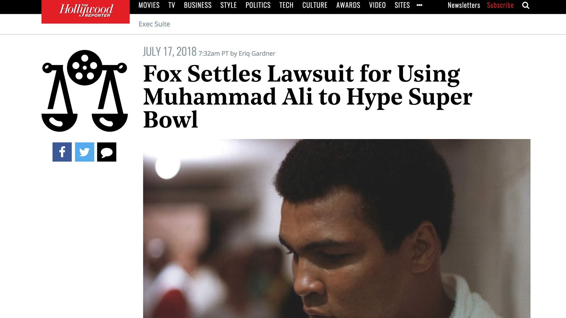 Fairness Rocks News Fox Settles Lawsuit for Using Muhammad Ali to Hype Super Bowl