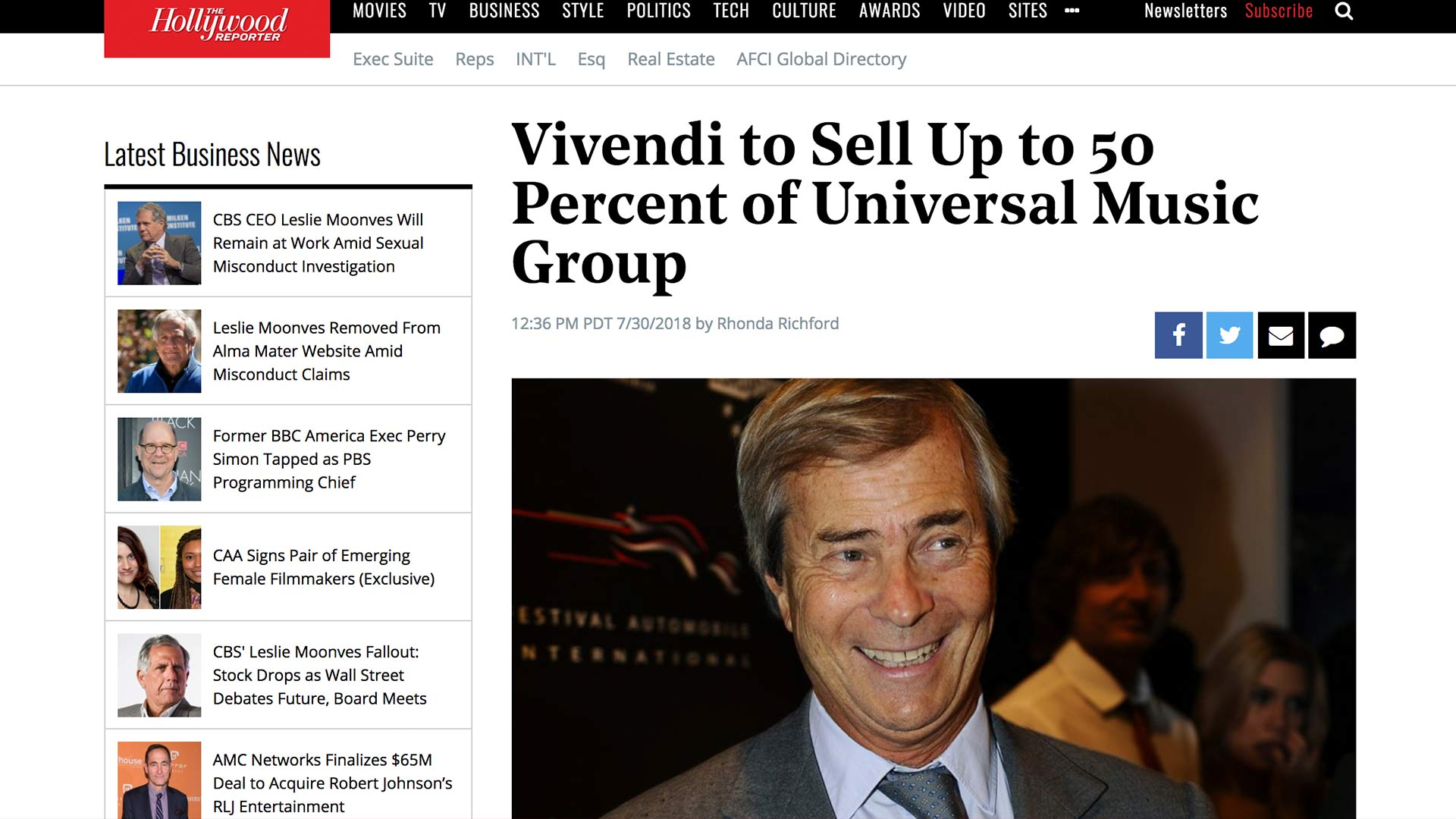 Fairness Rocks News Vivendi to Sell Up to 50 Percent of Universal Music Group
