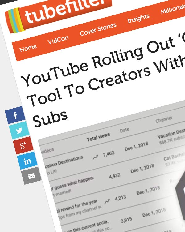 Fairness Rocks News YouTube Rolling Out 'Copyright Match' Tool To Creators With More Than 100,000 Subs