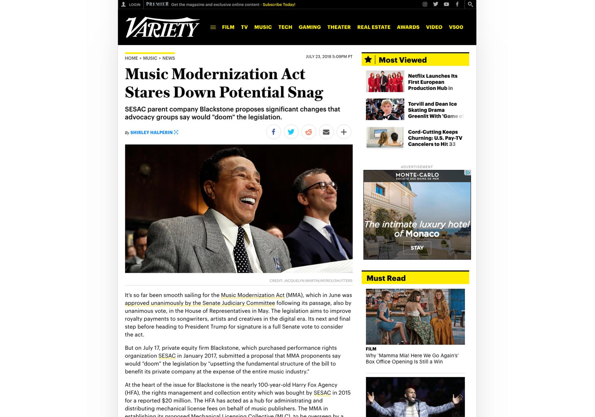 Fairness Rocks News Music Modernization Act Stares Down Potential Snag