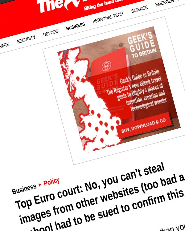 Fairness Rocks News Top Euro court: No, you can't steal images from other websites (too bad a school had to be sued to confirm this little fact)