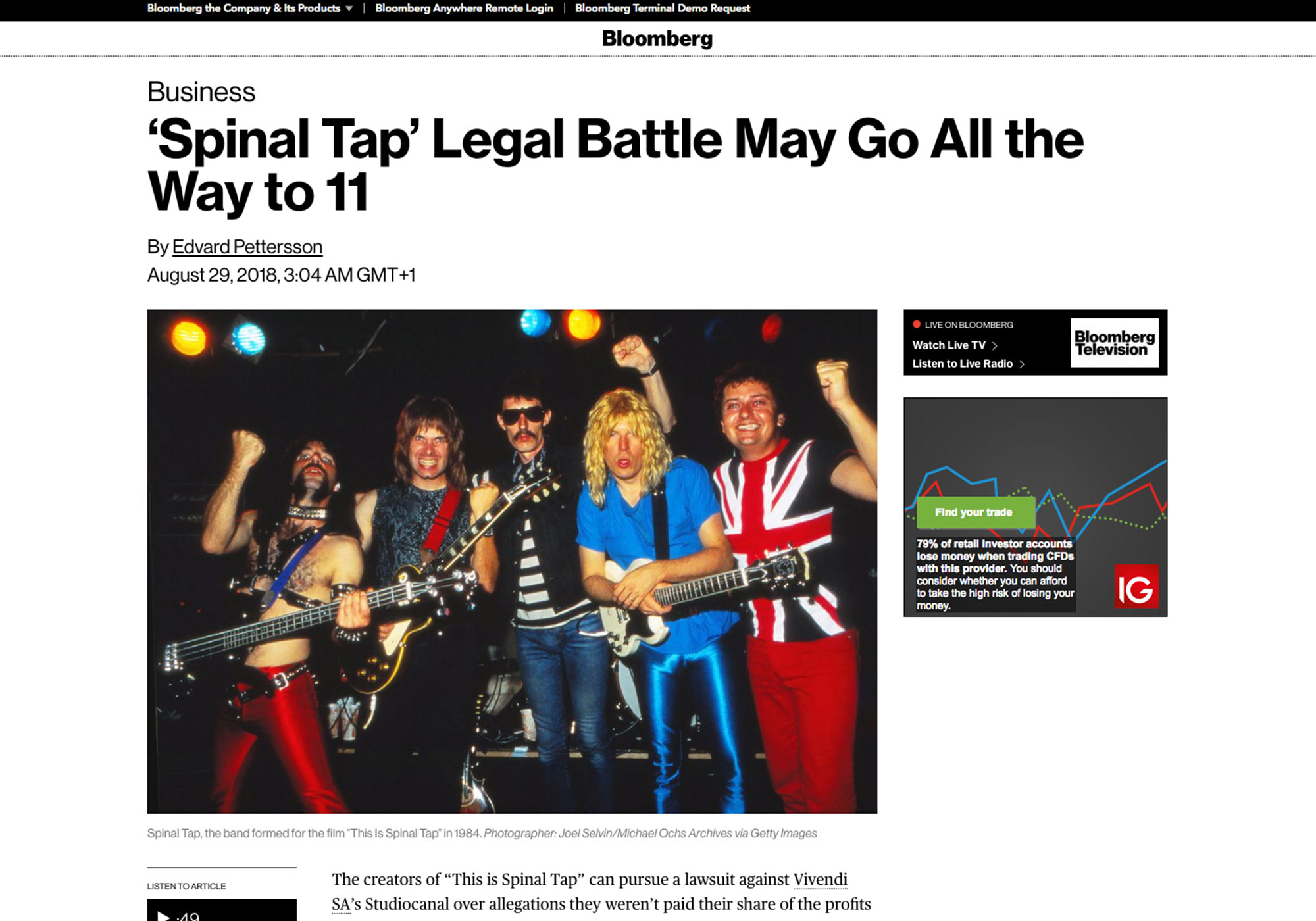Fairness Rocks News 'Spinal Tap' Legal Battle May Go All the Way to 11