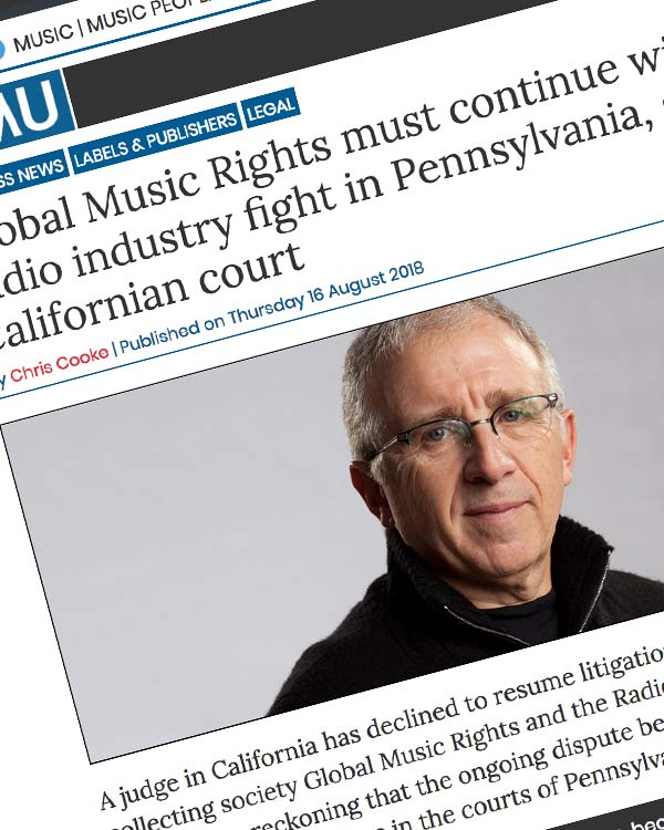 Fairness Rocks News Global Music Rights must continue with radio industry fight in Pennsylvania, says Californian court