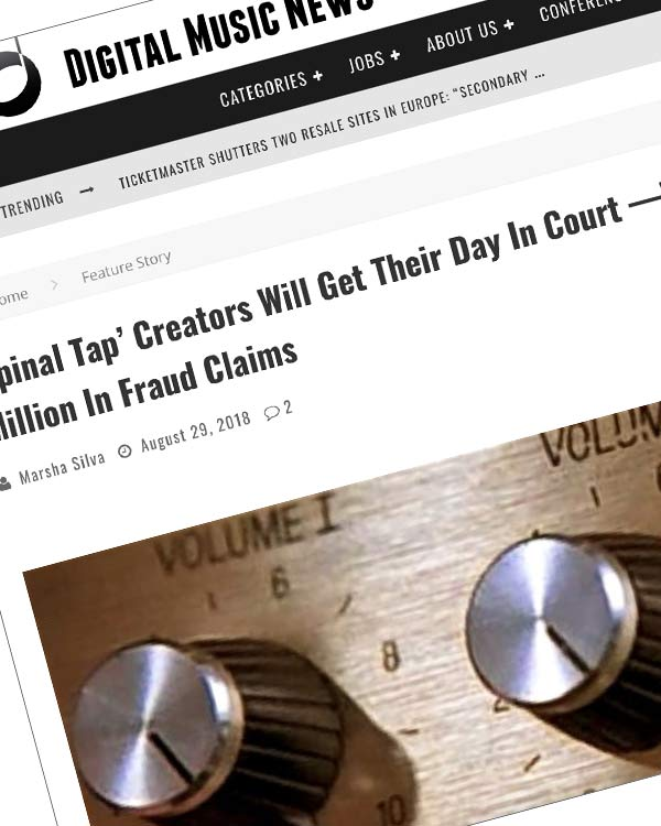 Fairness Rocks News 'Spinal Tap' Creators Will Get Their Day In Court —With $400 Million In Fraud Claims