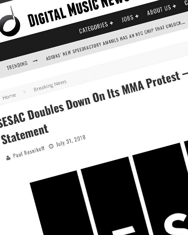 Fairness Rocks News SESAC Doubles Down On Its MMA Protest — Here's Their Statement