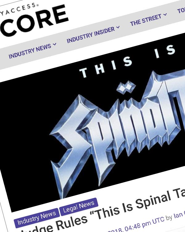 "Fairness Rocks News Judge Rules ""This Is Spinal Tap"" Case Can Proceed"