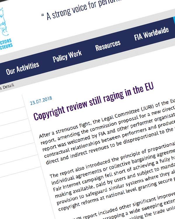 Fairness Rocks News Copyright review still raging in the EU