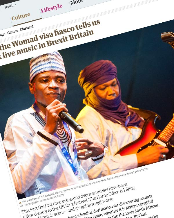 Fairness Rocks News What the Womad visa fiasco tells us about live music in Brexit Britain