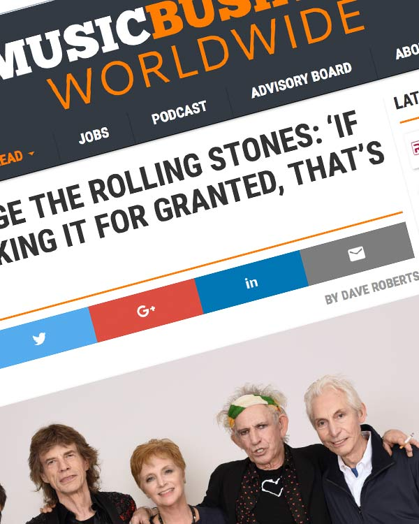 Fairness Rocks News HOW TO MANAGE THE ROLLING STONES: 'IF YOU START TAKING IT FOR GRANTED, THAT'S DOOMSDAY.'
