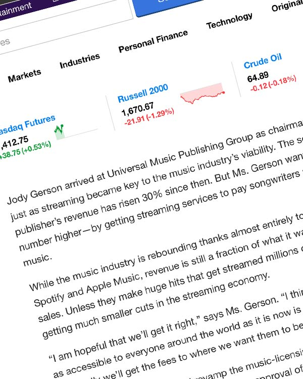 Fairness Rocks News A Music-Publishing CEO Seeks Higher Fees for Songwriters