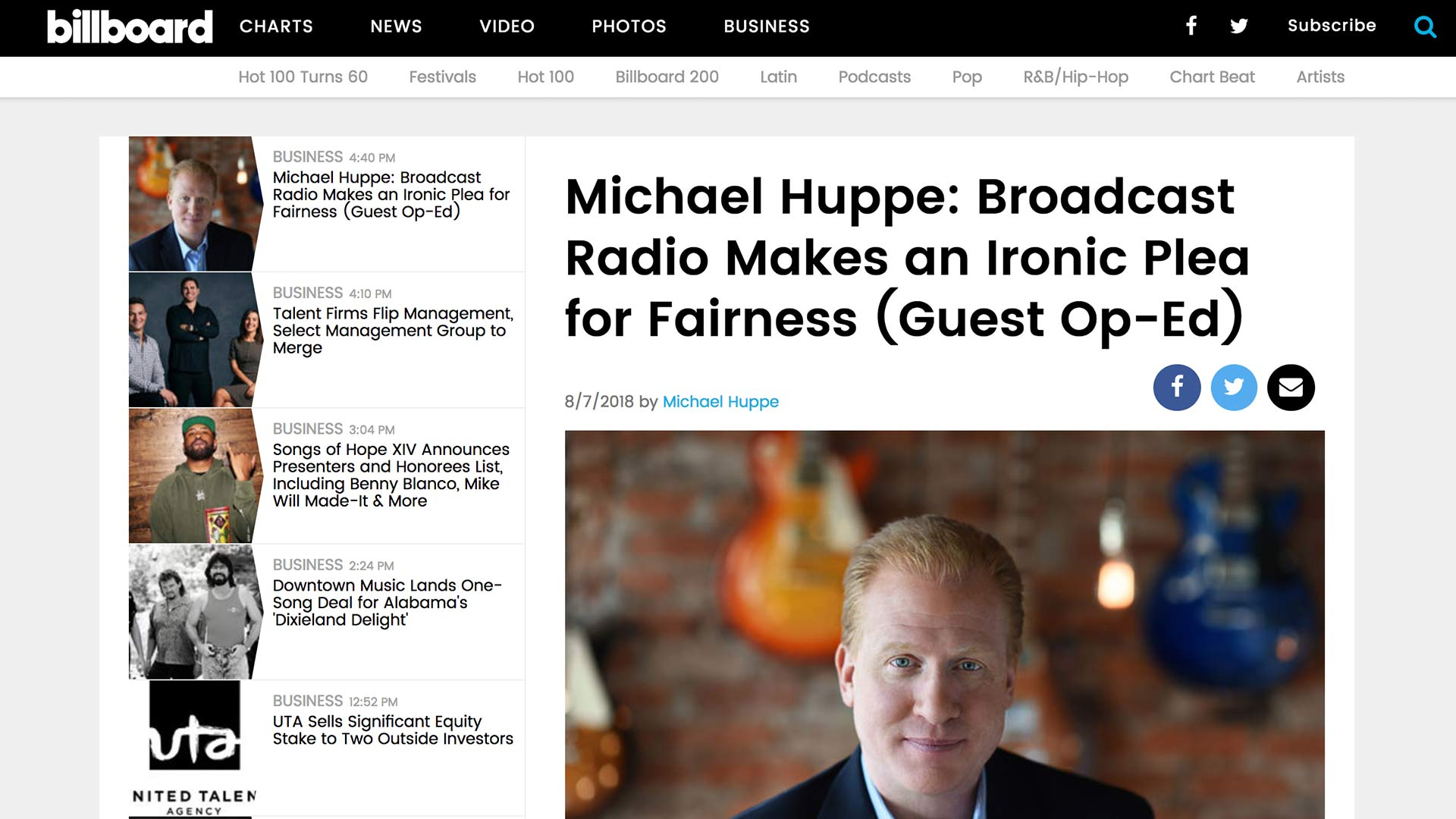 Fairness Rocks News Michael Huppe: Broadcast Radio Makes an Ironic Plea for Fairness (Guest Op-Ed)