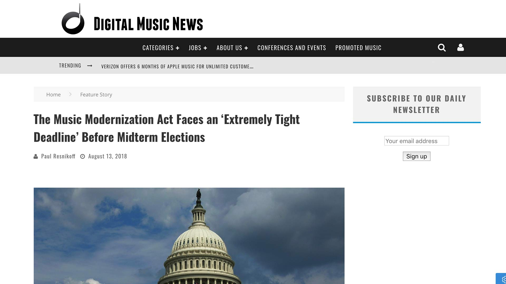 Fairness Rocks News The Music Modernization Act Faces an 'Extremely Tight Deadline' Before Midterm Elections