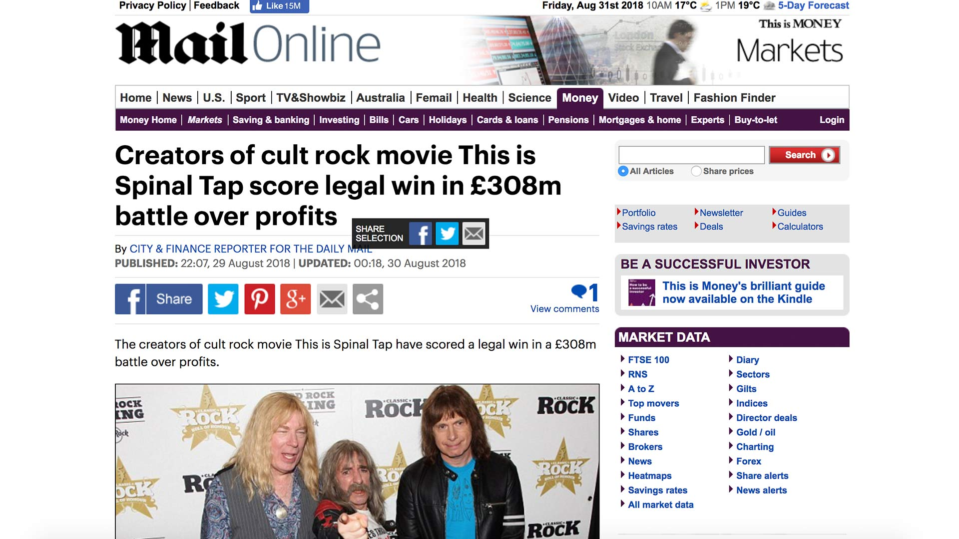 Fairness Rocks News Creators of cult rock movie This is Spinal Tap score legal win in £308m battle over profits