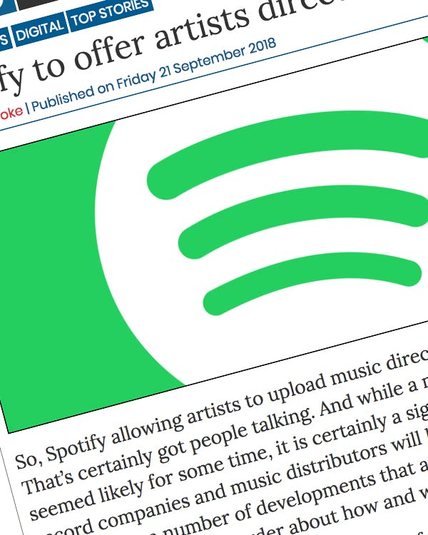 Fairness Rocks News Spotify to offer artists direct-upload tools