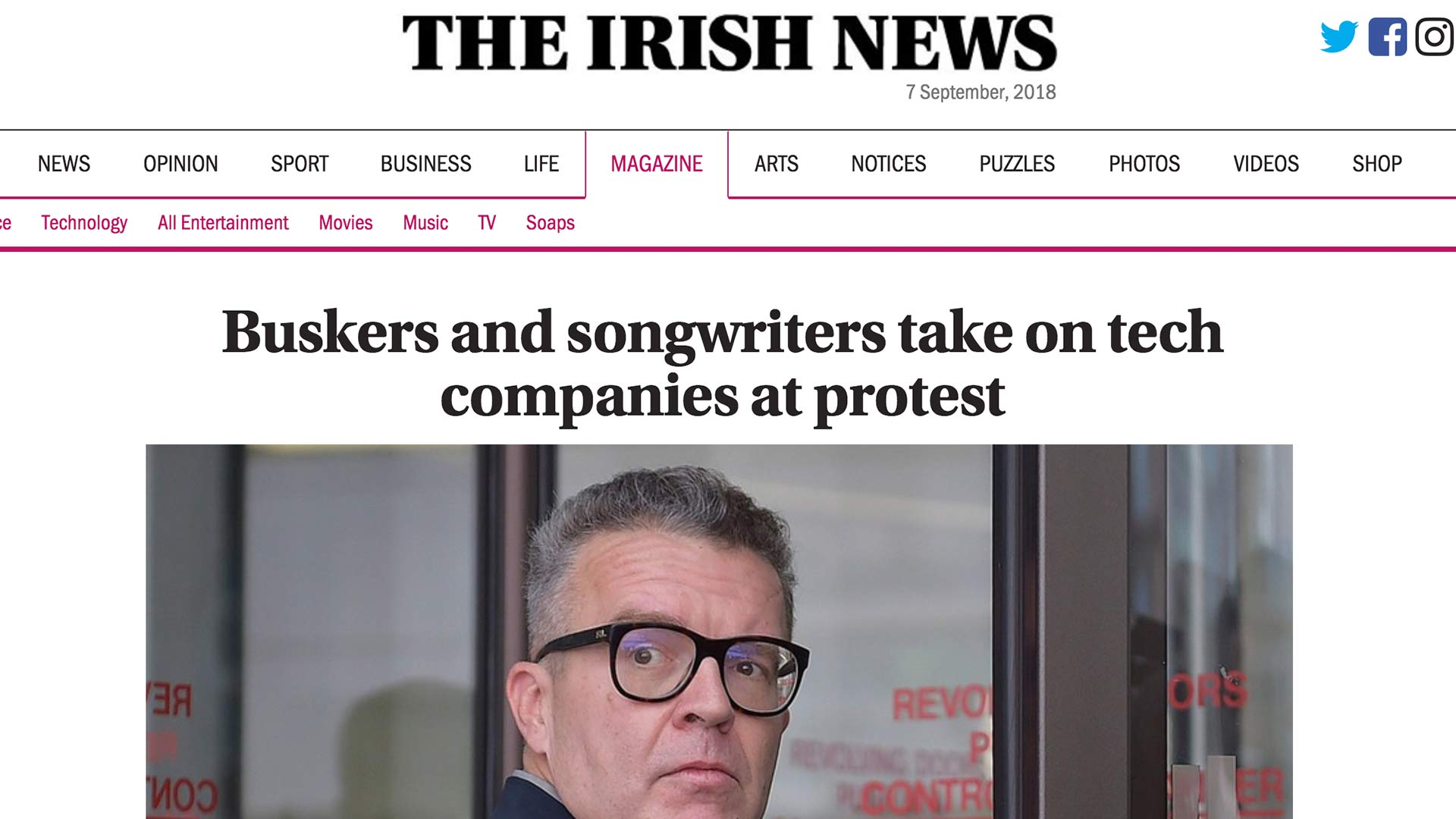 Fairness Rocks News Buskers and songwriters take on tech companies at protest