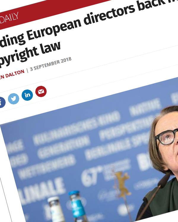 Fairness Rocks News Leading European directors back new EU copyright law