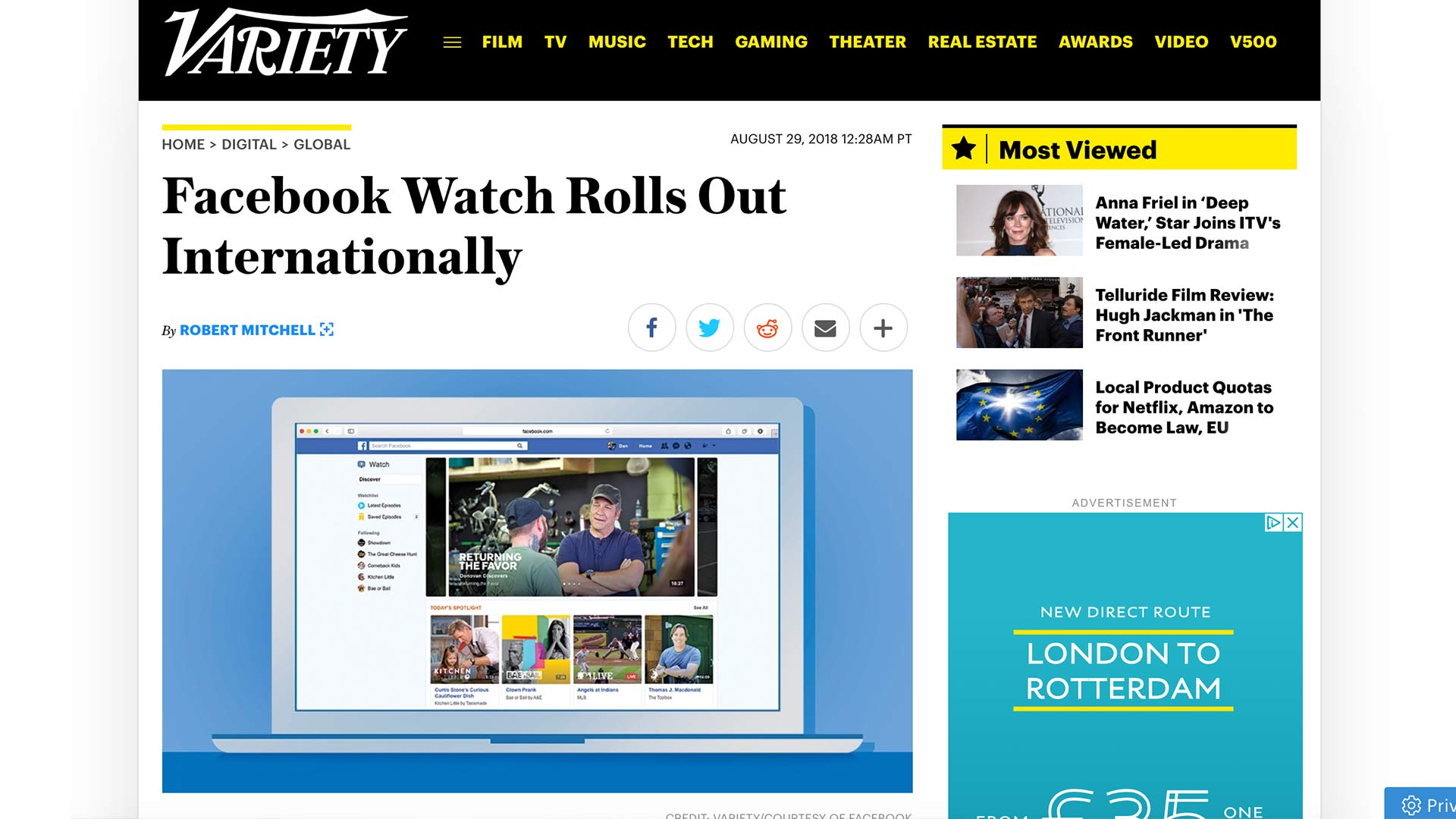 Fairness Rocks News Facebook Watch Rolls Out Internationally