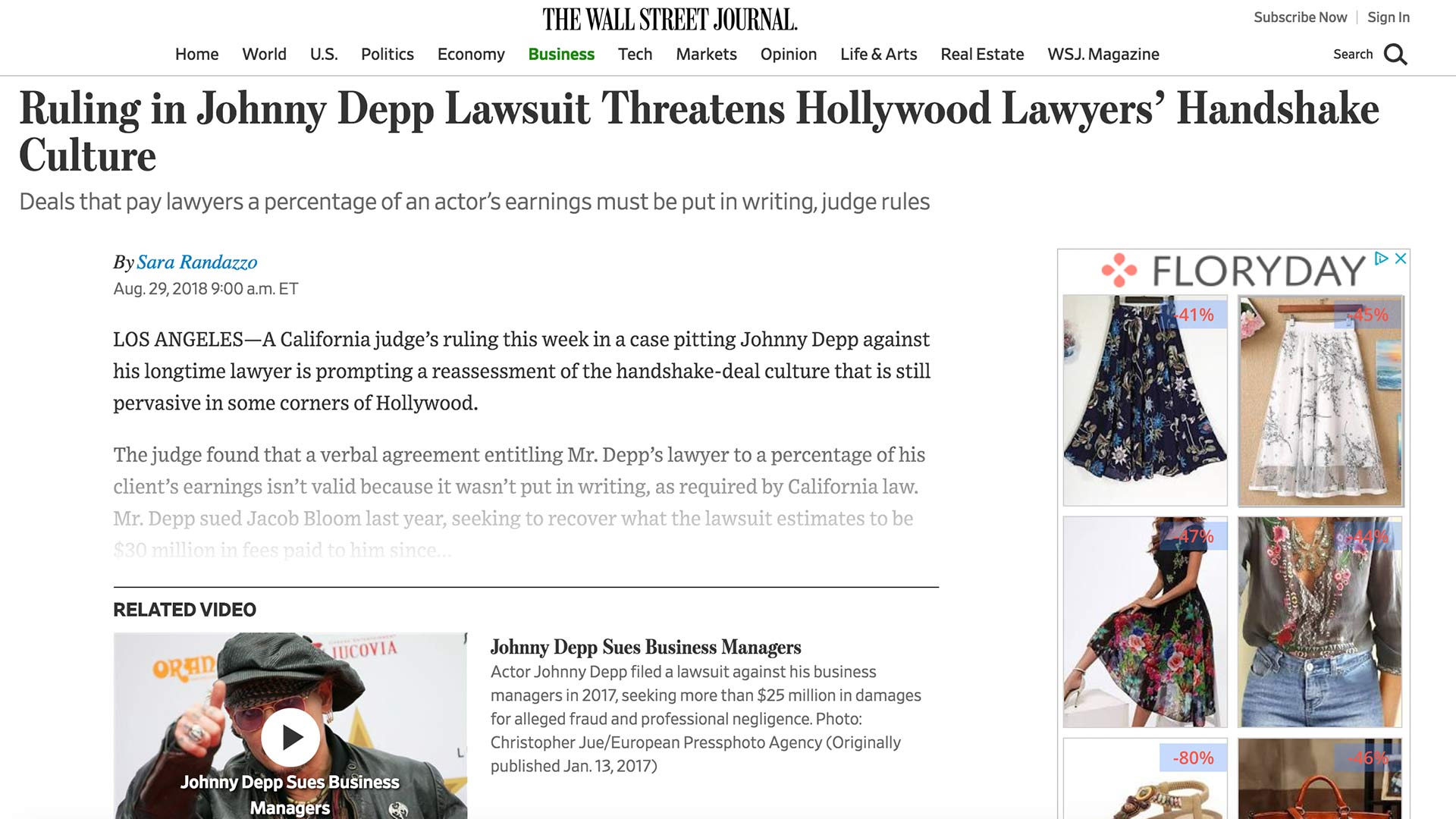 Fairness Rocks News Ruling in Johnny Depp Lawsuit Threatens Hollywood Lawyers' Handshake Culture