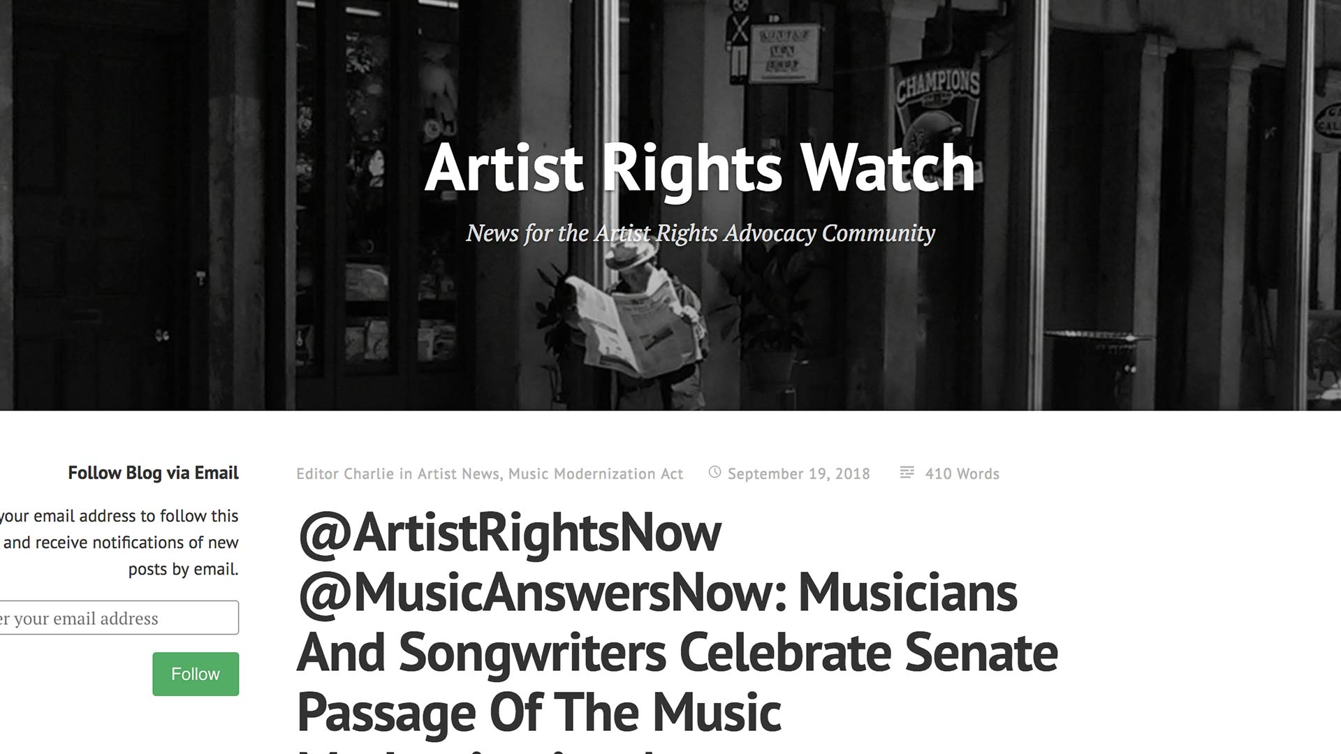 Fairness Rocks News @ArtistRightsNow @MusicAnswersNow: Musicians And Songwriters Celebrate Senate Passage Of The Music Modernization Act
