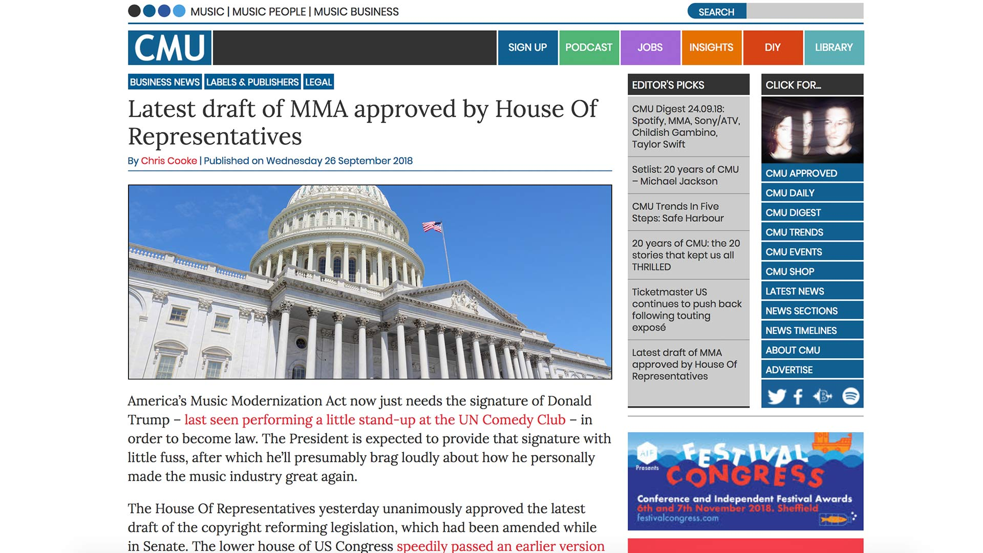 Fairness Rocks News Latest draft of MMA approved by House Of Representatives