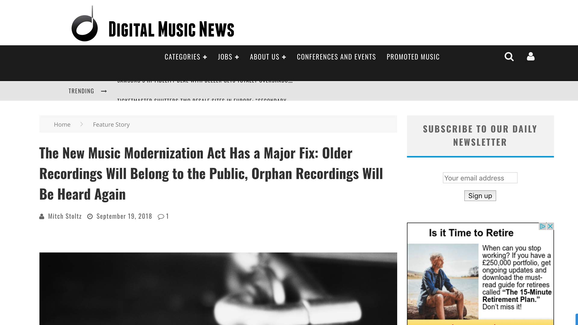 Fairness Rocks News The New Music Modernization Act Has a Major Fix: Older Recordings Will Belong to the Public, Orphan Recordings Will Be Heard Again