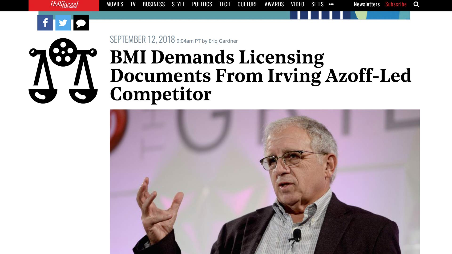 Fairness Rocks News BMI Demands Licensing Documents From Irving Azoff-Led Competitor