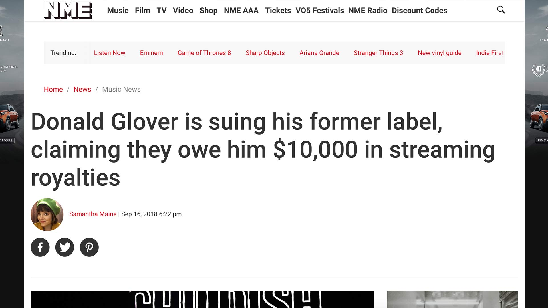 Fairness Rocks News Donald Glover is suing his former label, claiming they owe him $10,000 in streaming royalties