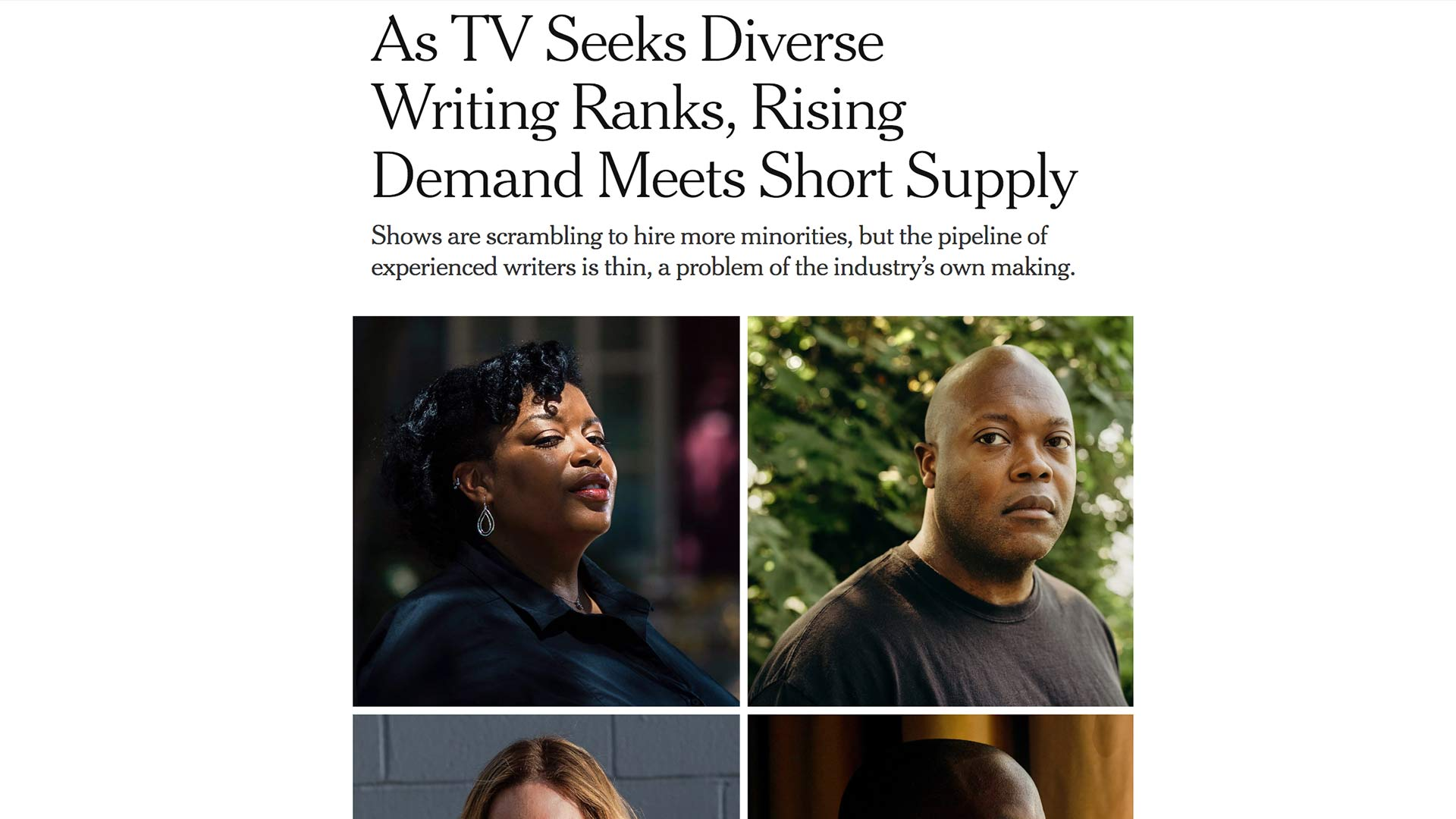 Fairness Rocks News As TV Seeks Diverse Writing Ranks, Rising Demand Meets Short Supply
