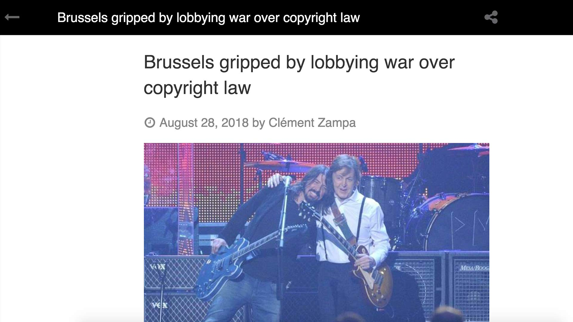 Fairness Rocks News Brussels gripped by lobbying war over copyright law