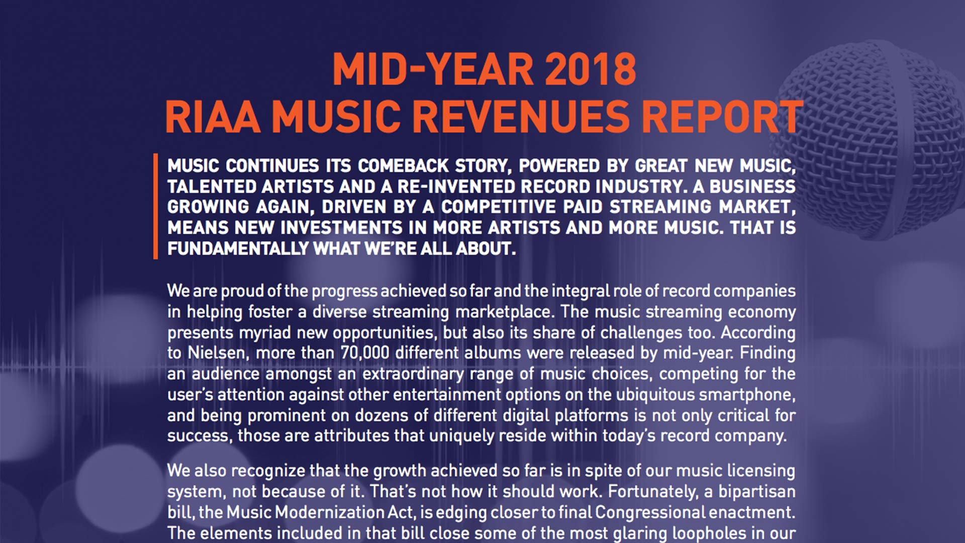 Fairness Rocks News MID-YEAR 2018 RIAA MUSIC REVENUES REPORT
