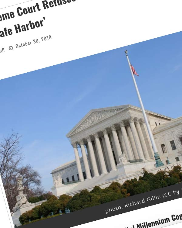 Fairness Rocks News The Supreme Court Refuses a Case Challenging the Notorious DMCA 'Safe Harbor'