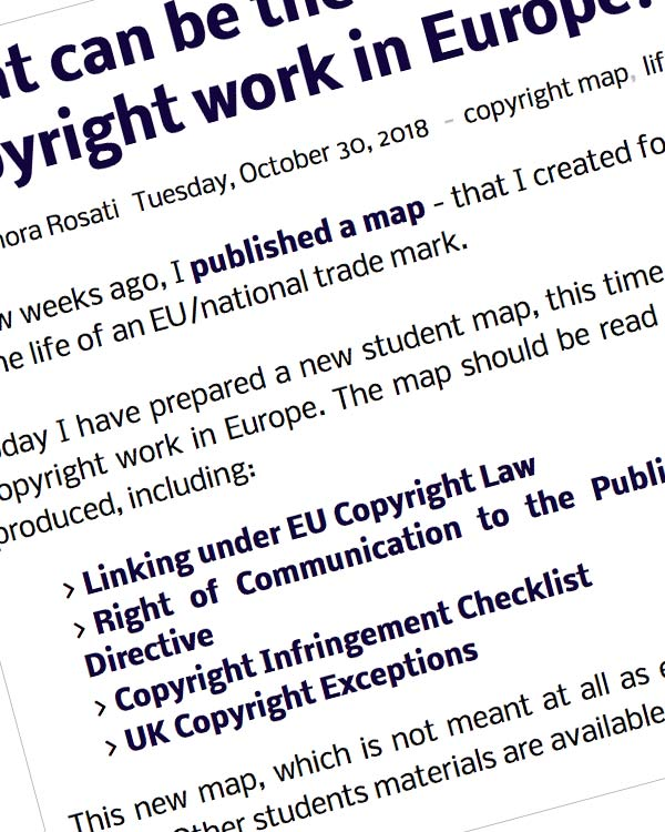 Fairness Rocks News What can be the main events in the life of a copyright work in Europe? Here's another map