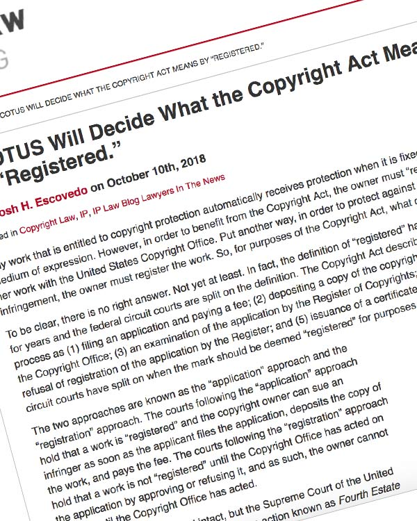 """Fairness Rocks News SCOTUS Will Decide What the Copyright Act Means by """"Registered."""""""